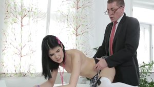 The best sex together with petite teacher Lady Dee
