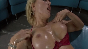 Brandi Love together with Krissy Lynn oily nailed