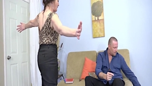 Horny and huge tits Mya Lushes blowjobs