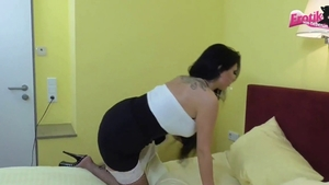 Tina Hot in tight stockings hardcore penetration in hotel