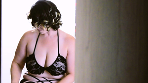 Large boobs busty MILF in sexy lingerie POV in HD