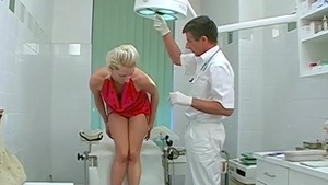 Real sex in company with very nice doctor