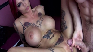 Real fucking in company with big boobs mature Anna Bell Peaks