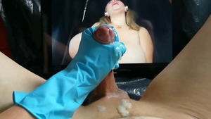 Ejaculation and stroking HD