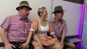 Shaved german stepmom extreme gangbang in HD
