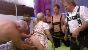 Chubby blonde haired banging fisting masturbation in HD