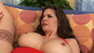 June Summers in tight stockings doggystyle HD