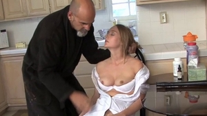 Doctor demonstrates natural boobs