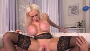 Big boobs blonde haired Angel Wicky digs plowing hard