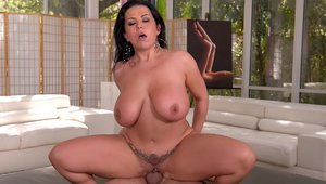 Super sexy stepmom Sheridan Love feels up to sucking cock