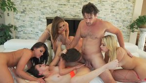 Gangbang together with Mandy Muse among Carmen Caliente