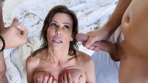 Hardcore sex escorted by large boobs blonde haired