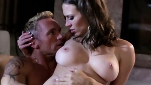 Plowing hard escorted by busty whore