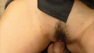 Close up real fucking accompanied by young japanese girl
