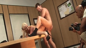 Big boobs & hottest Brooke Haven doggy sex during interview
