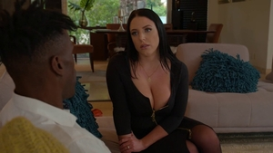 Large tits Angela White interracial pounding in stockings