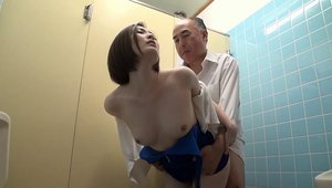Erotic japanese in the toilet