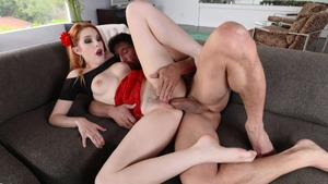 Pussy eating scene with horny hard Amarna Miller