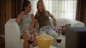 Slamming hard together with Gia Paige & Charlotte Stokely