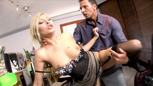 Blonde haired Choky Ice with Donna Bell