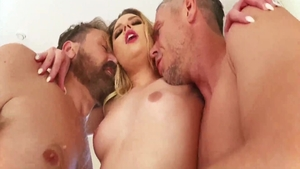 Aubrey Sinclair & Mick Blue double penetration