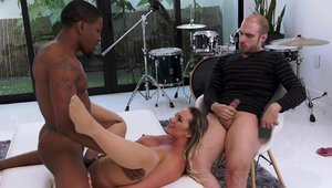 Cali Carter in sexy lingerie fetish threesome