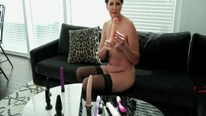 Sex with toys along with shaved brunette Casca Akashova