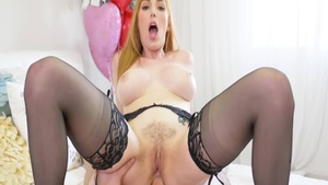 Lauren Phillips in nylon anal fucking