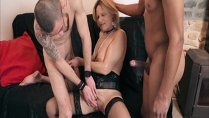 Plowing hard escorted by french blonde hair