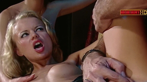 Lucy Belle accompanied by Dora Venter double penetration