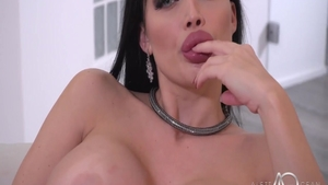 The best sex alongside huge boobs brunette Aletta Ocean