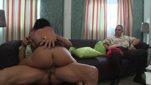 Inked brunette Mason Moore feels up to cumshot
