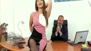 Large tits and bubble butt Dani Daniels pussy fuck in office