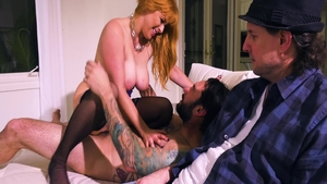 Sloppy fucking along with super sexy mature Penny Pax