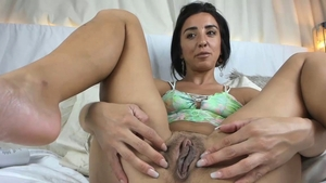 Young girl playing with toys masturbation in HD