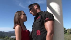 Hard pounding together with naughty brunette Kristina Rose
