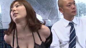 Japanese pornstar feels up to blowjobs HD