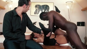 Creampie among hot latina hotwife in tight stockings