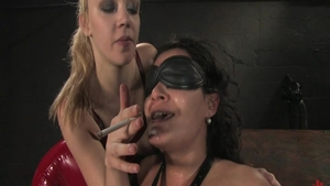 Annette Schwarz in company with Charley Chase smoking