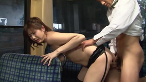 Asian cock sucking in the bus