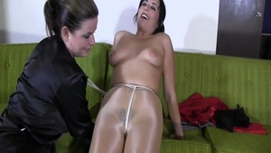 Horny large boobs amateur wearing pantyhose bondage