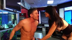 Hard ramming accompanied by big boobs MILF Dana Vespoli