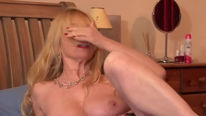 Pussy fucking escorted by big boobs mature