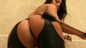 Tiffany Chambers in catsuit erotic butt fucking