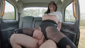 Alisya Gapes in her lingerie gaping in the taxi