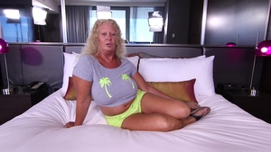 Large tits MILF POV anal sex in hotel