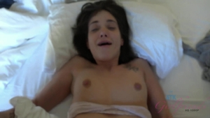 Brunette Gia Paige agrees to rough ejaculation in motel HD