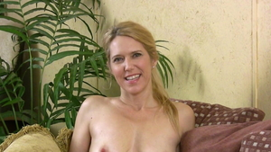 Sexy mature softcore riding a dick during interview
