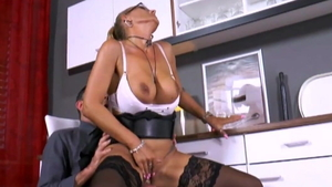 Anal fucking between european MILF in high heels HD