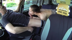 Samantha Bee bends to get fucked in the taxi